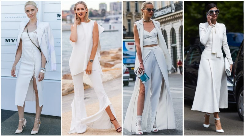 All White Formal Outfits