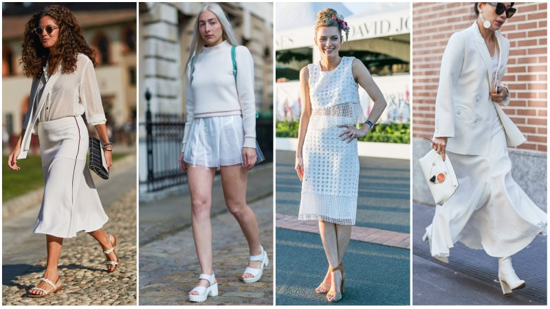 All White Skirt Outfits