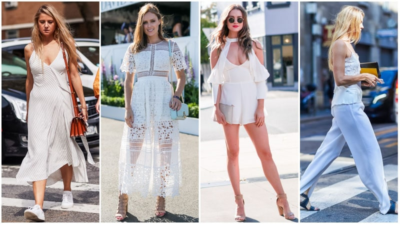 All White Summer Outfits