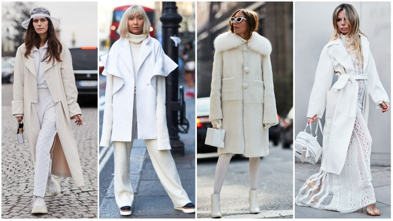All White Winter Outfits