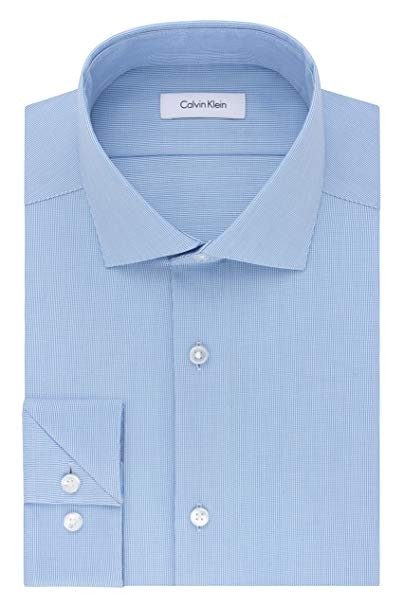 Calvin Klein Men's Non Iron Stretch Slim Fit Dress Shirt