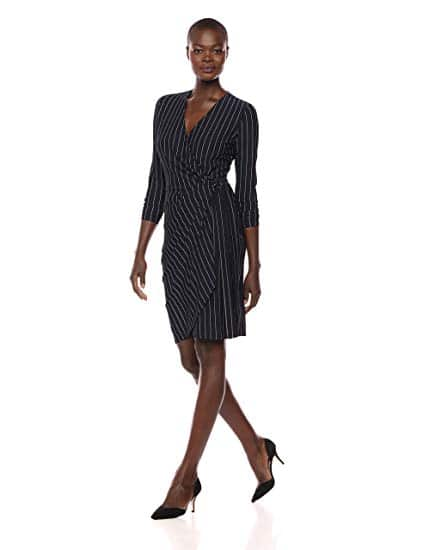 Classic Long Sleeve Wrap Dress