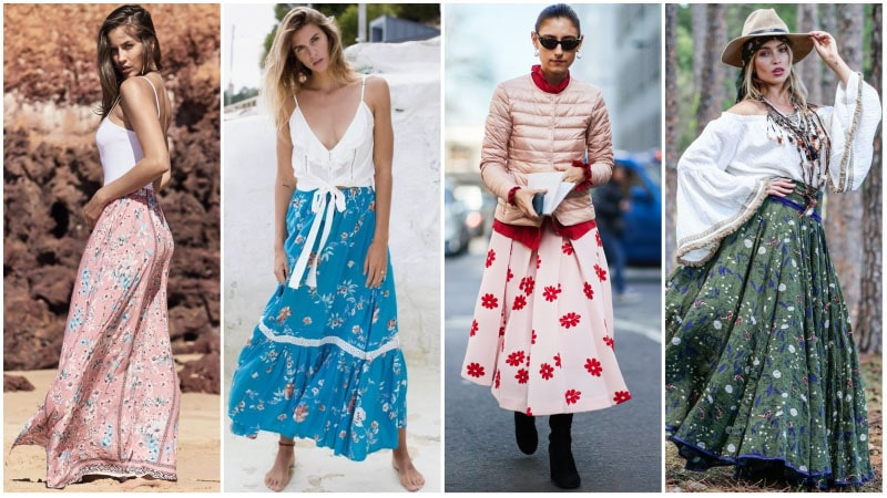 Floral Maxi Skirt Outfits