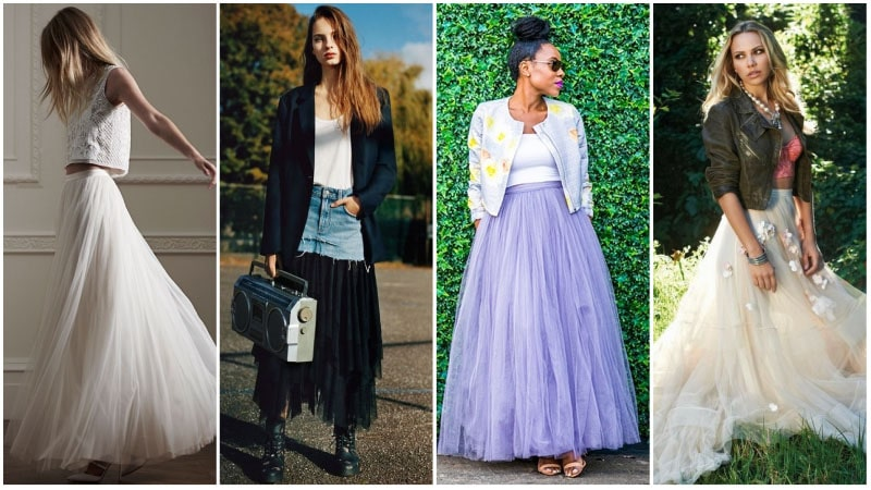Tulle Maxi Skirt Outfits