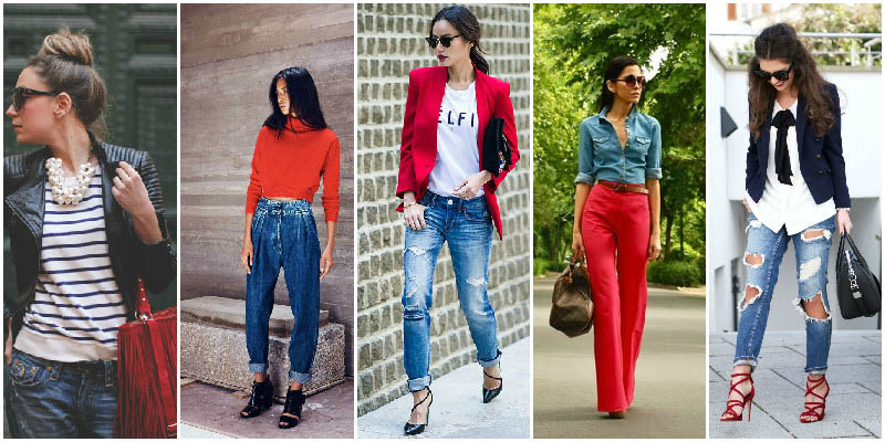 Red and Blue Colour Combinations