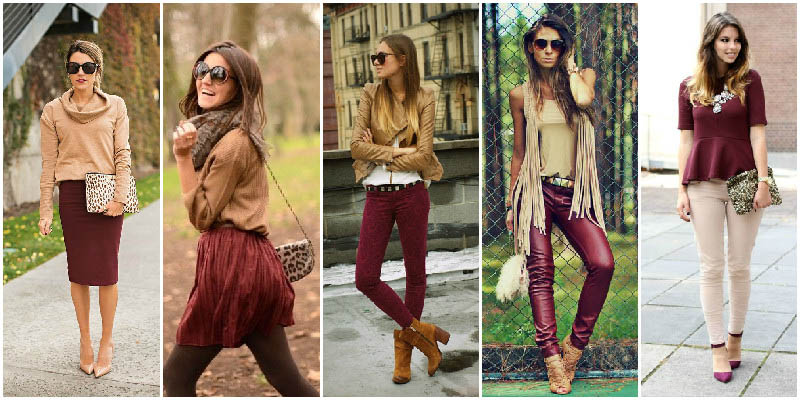 Tan and Maroon Colour Combinations