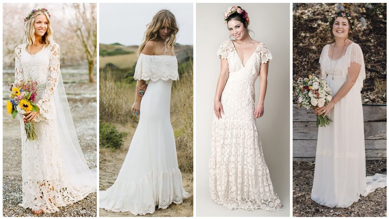 Casual Bohemian Wedding Dresses