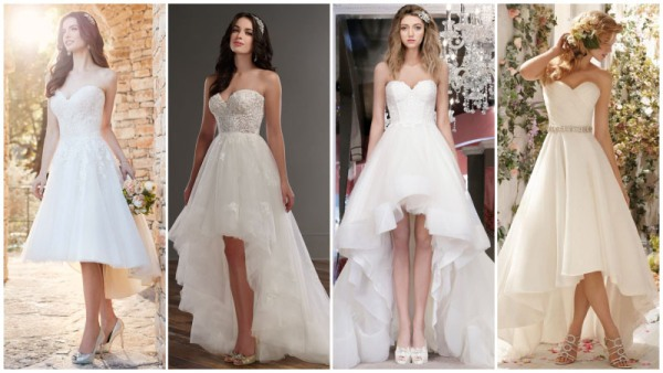 High Low Sweetheart Wedding Dresses