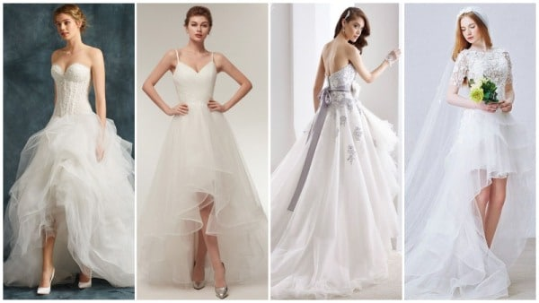 High Low Tulle Wedding Dresses