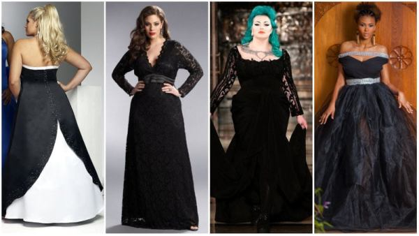 Plus Size Black Wedding Dresses