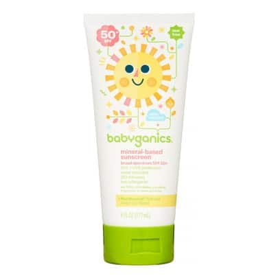 Babyganics Mineral-Based Baby Sunscreen Lotion, SPF 50, 6 Fl Oz
