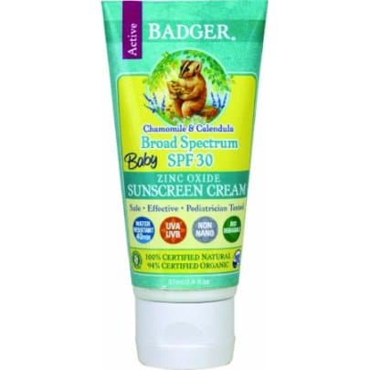 Badger Organic Baby Sunscreen Cream SPF 30 Chamomile and Calendula