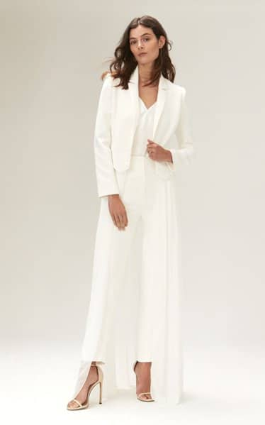 Eve Cropped Jacket With Satin Lapels And Detachable Skirt