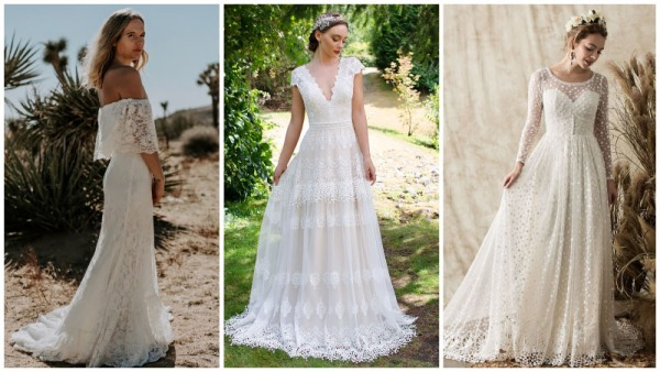 Boho-Lace-Wedding-Dresses