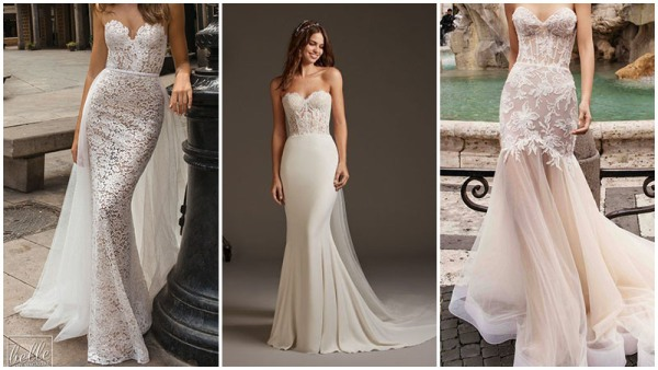 Strapless Corset Mermaid Wedding Dresses