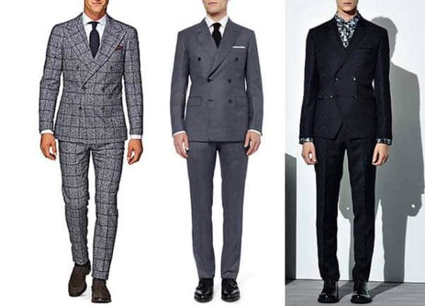 Three Styles of Double Breasted Suit