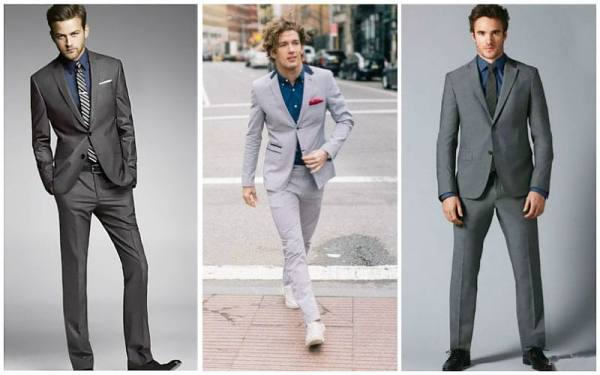 Grey Suit with Navy Shirt