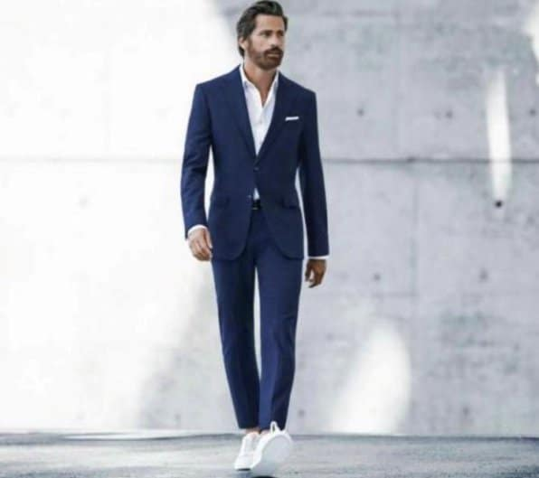 Suits and trainers can be worn together