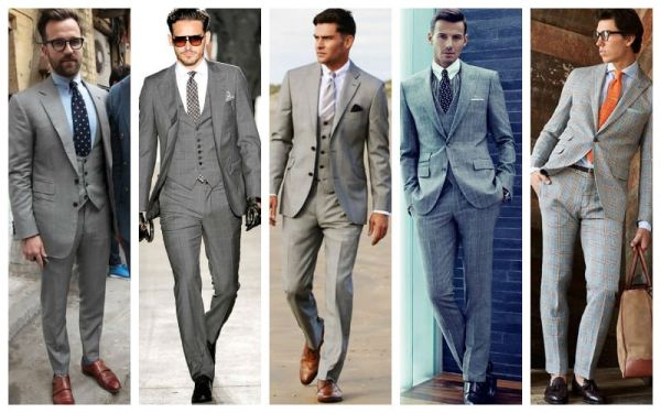 How To Wear A Gray Suit - GREY-SUIT-SHOES