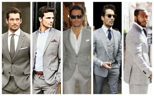 How To Wear A Gray Suit - LIGHT-GREY