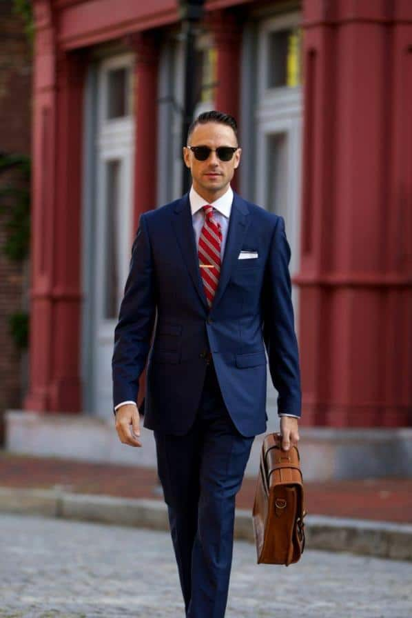 What Colour Shirt with a Navy Suit