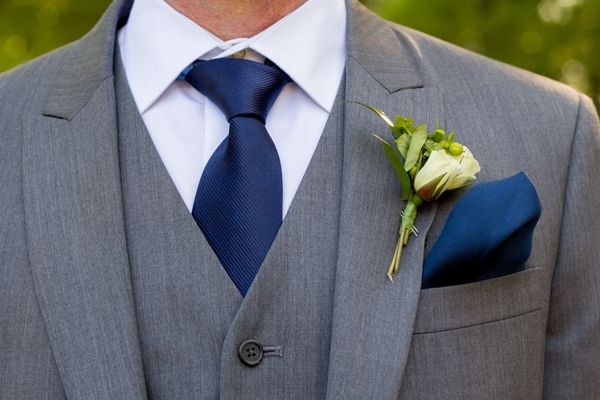 With Blue Tie