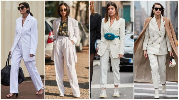 White Pants Suit Outfits