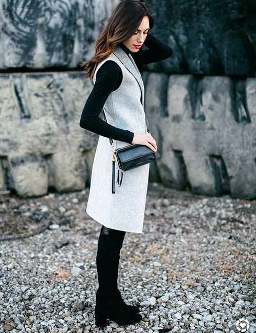 Black T-Shirt Dress With A Kimono Or Jacket