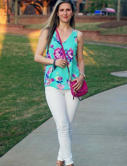 With Floral Tops For Spring