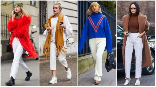 Winter White Pants Outfits
