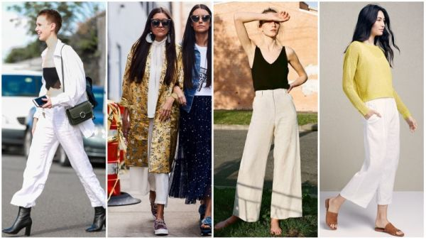 White Linen Pants Outfits