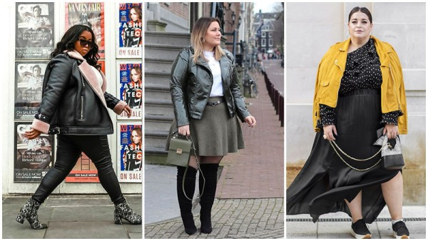 Plus Size Leather Jacket Outfits Ideas