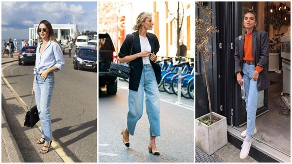 Light Blue Mom Jeans Outfits