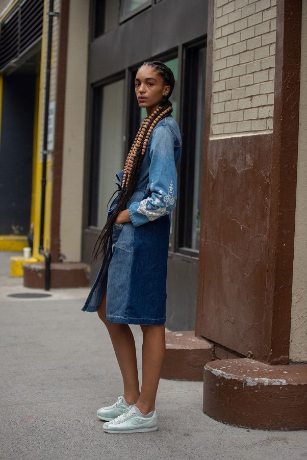 Two-Tone Jean Skirt