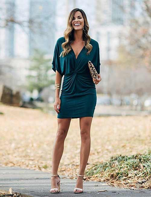 Short Bottle Green Dress