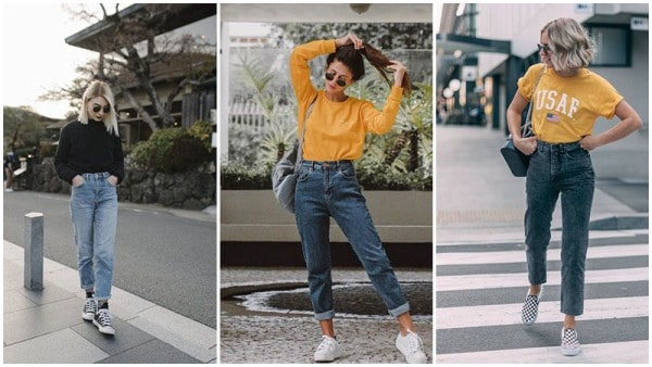 90s Inspired Mom Jeans Outfits