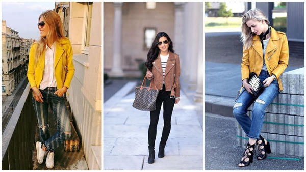 Yellow and Tan Leather Jacket