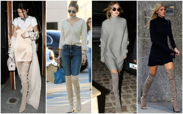 Brown-Grey-and-Cognac-how to wear Over The Knee Boots