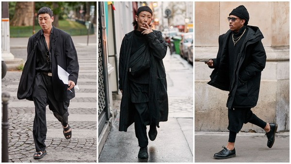 All-Black Outfits Coat Men