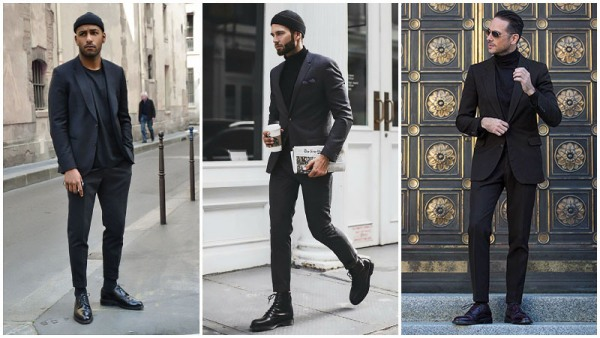 All-Black Outfits Suit Men