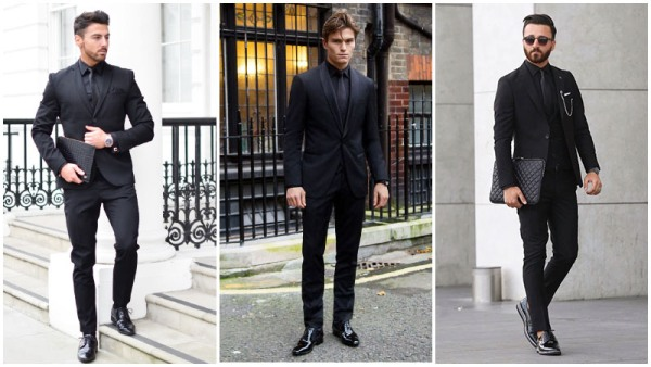 All-Black Outfits Formal Men