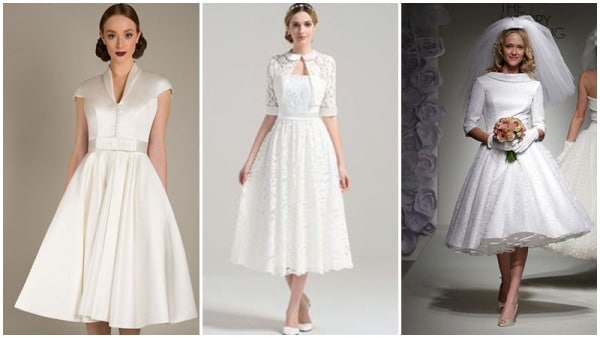1950s Tea Length Wedding Dresses
