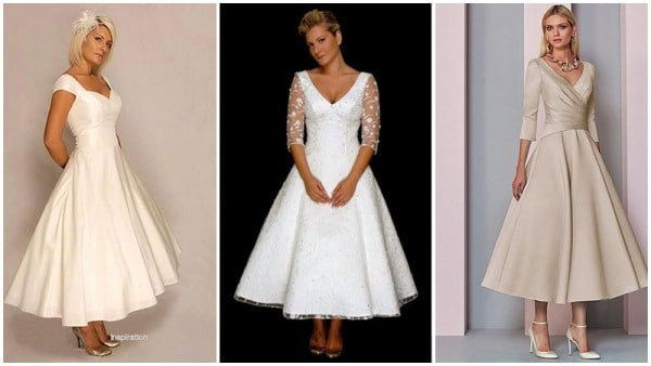 Tea Length Dresses for Older Brides