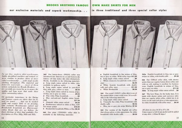 History Of The Oxford Shirt