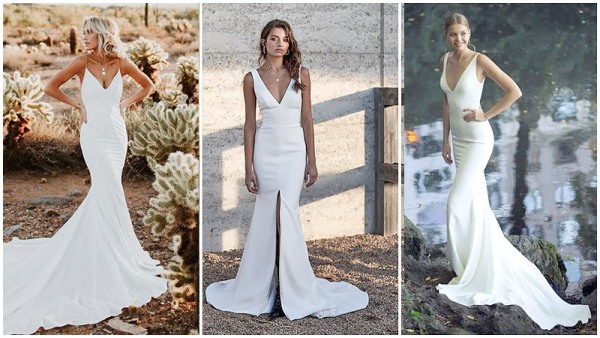 Simple Mermaid Style Wedding Dresses
