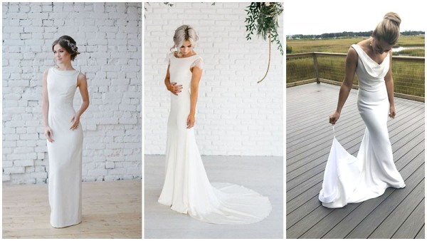 Simple Sheath Style Wedding Dresses