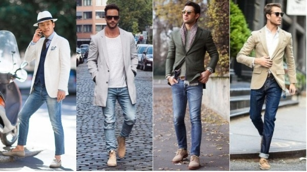 Jeans with Beige Shoes