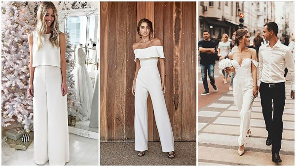 Simple Jumpsuit Wedding Dresses