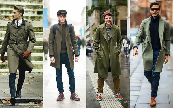 Military Green Trench Coat