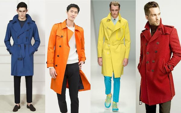 Bold Color Trench Coat